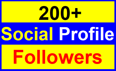 Add 200+High Quality Profile Followers Super Fast Delivery