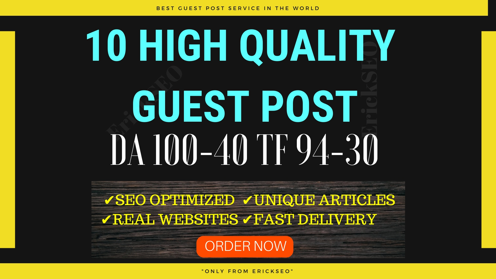 Write and Publish 10 Guest Post On High TF CF DA PA Sites