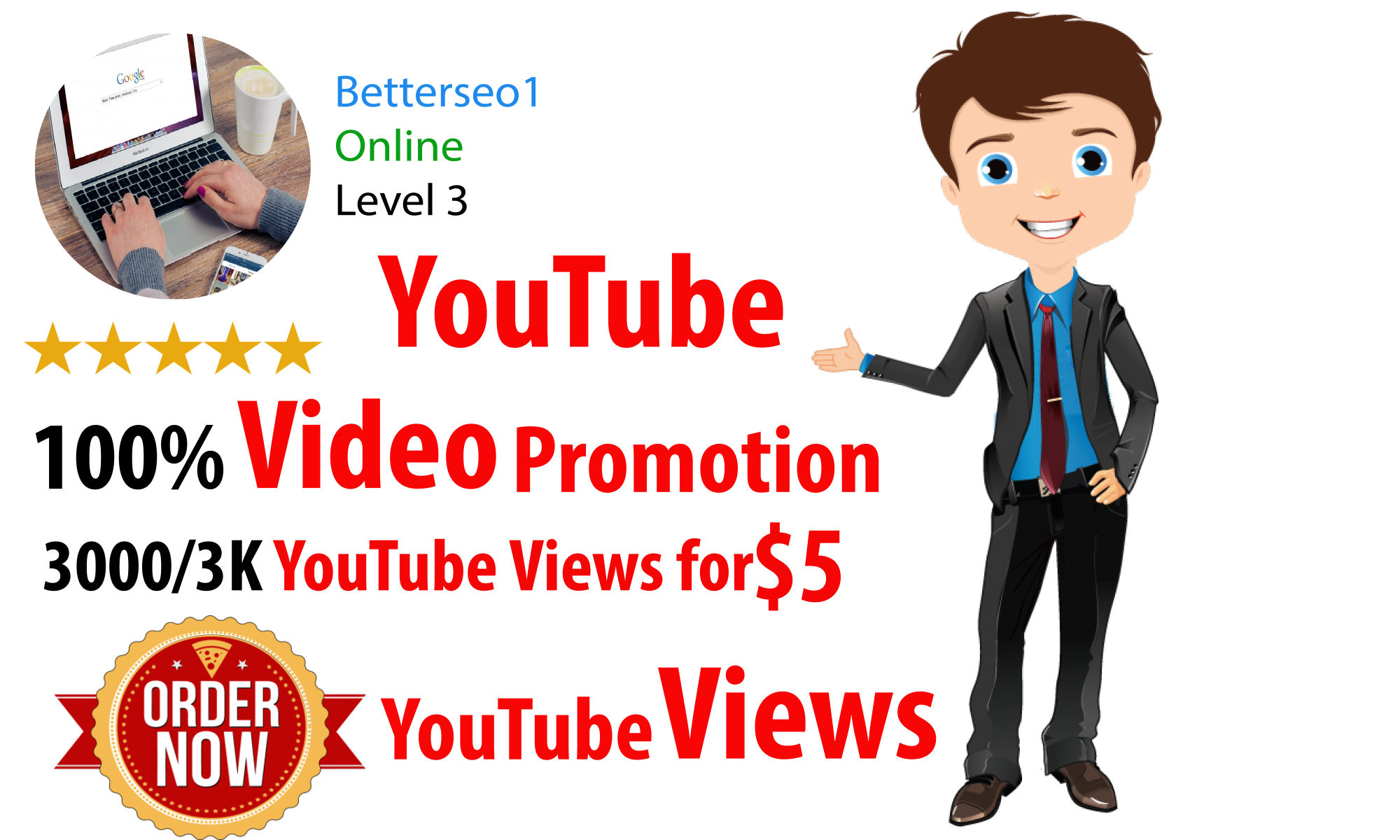 instant 3000 High Quality Video promotion Instant and super fast Delivery