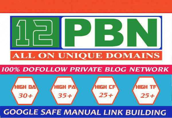 12 Permanent Homepage PBN 20+ DA PA CF TF SEO for Google top ranking