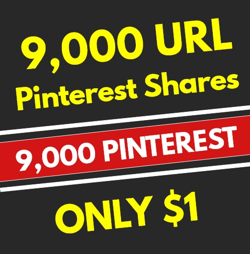 9,000 High Quality PR10 Pinterest Web Pin Social Signals - SEO RANKING FACTOR