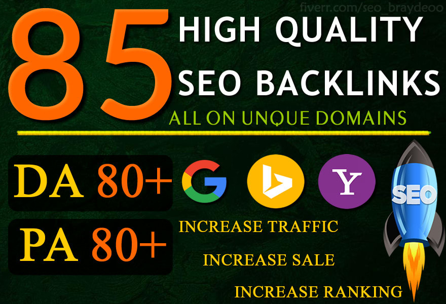 MANUALLY Do 85 UNIQUE PR9 SEO BackIinks on DA100-60 sites Plus Edu Links
