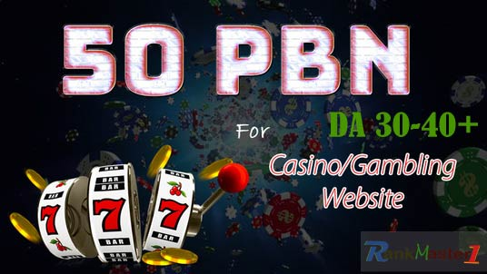 50 Casino PBNs DA 30-40+ Niche Homepage Permanent PBNs links for your Casino or Gambling Website