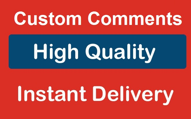 High Quality Custom Comments service via real users for my special clients