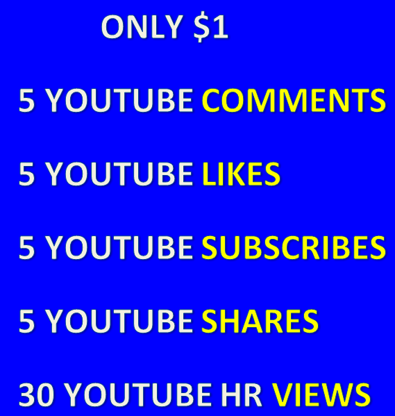 Cheapest youtube combo promotion
