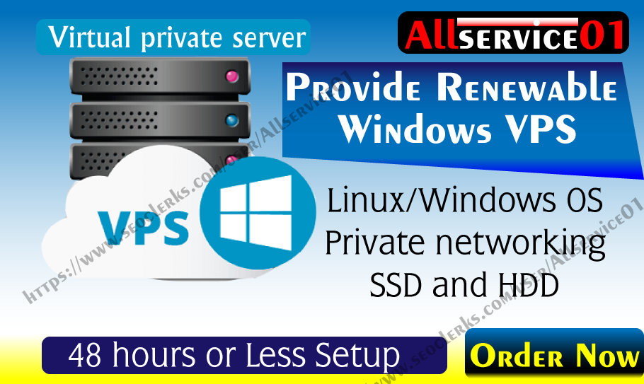 Provide Renewable Rdp Windows VPS Along 2GB Ram