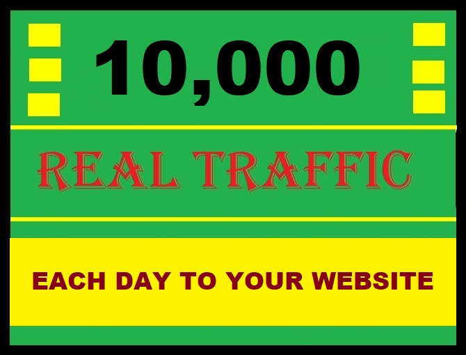 You will get 10000 Traffic to your Website or blog each day