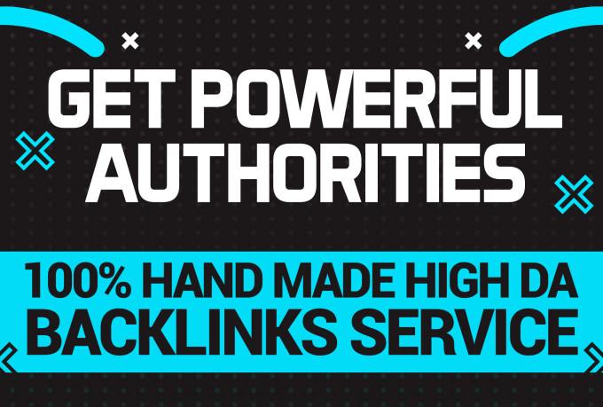 Get 95 unique domain SEO backlinks on da50-100 websites