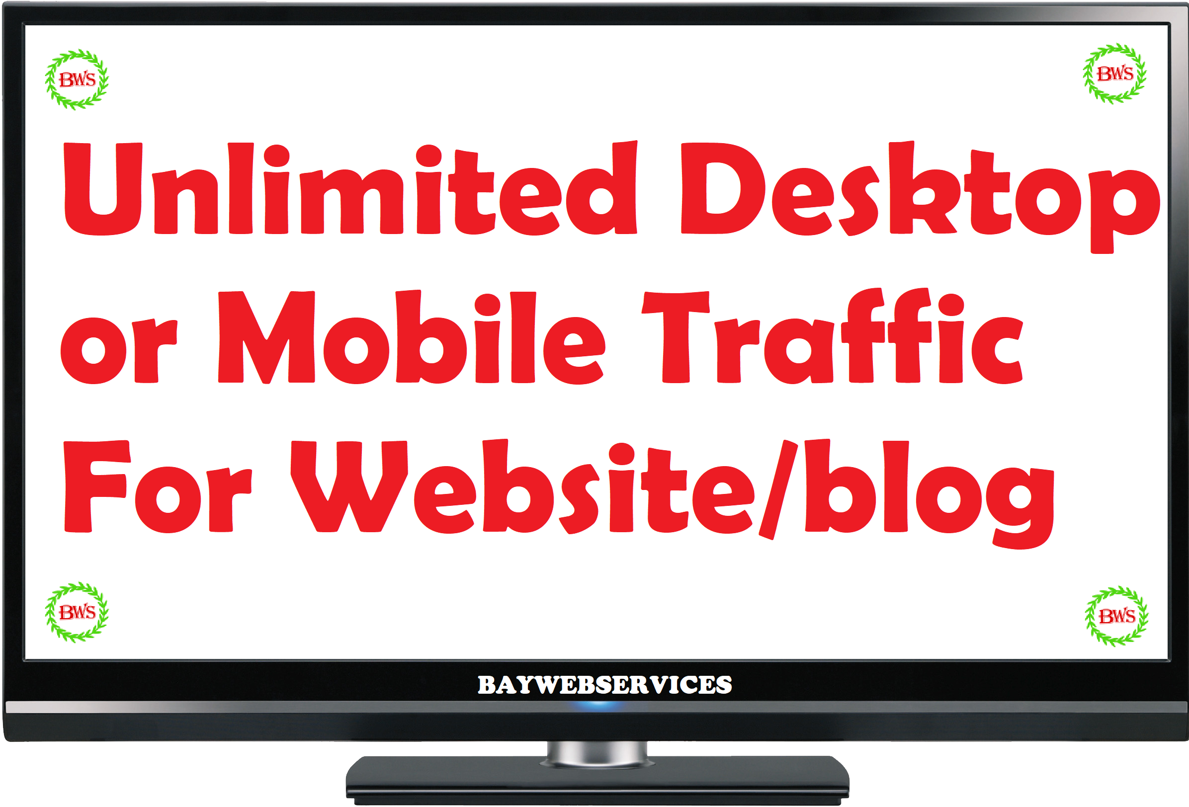 5 days Unlimited Desktop or Mobile Traffic for your Website or blog