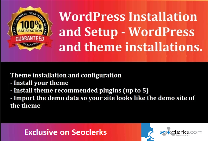 I will install WordPress theme on cPanel, WordPress setup, install plugin