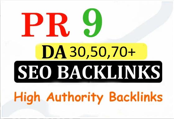 10 PR9 - DA Backlinks fast promotion