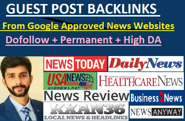 I will build SEO backlinks on google news site with dofollow links