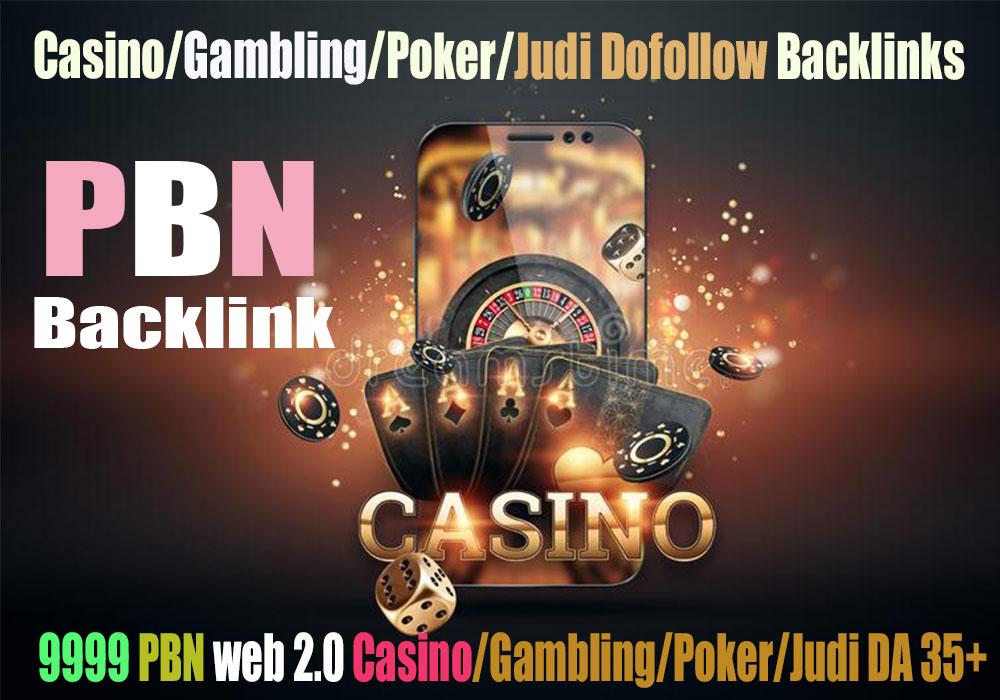 I will do 12000 web 2.0 Casino/Judi/Poker/Gambling Dofollow Backlinks DA 35+ PA 35+