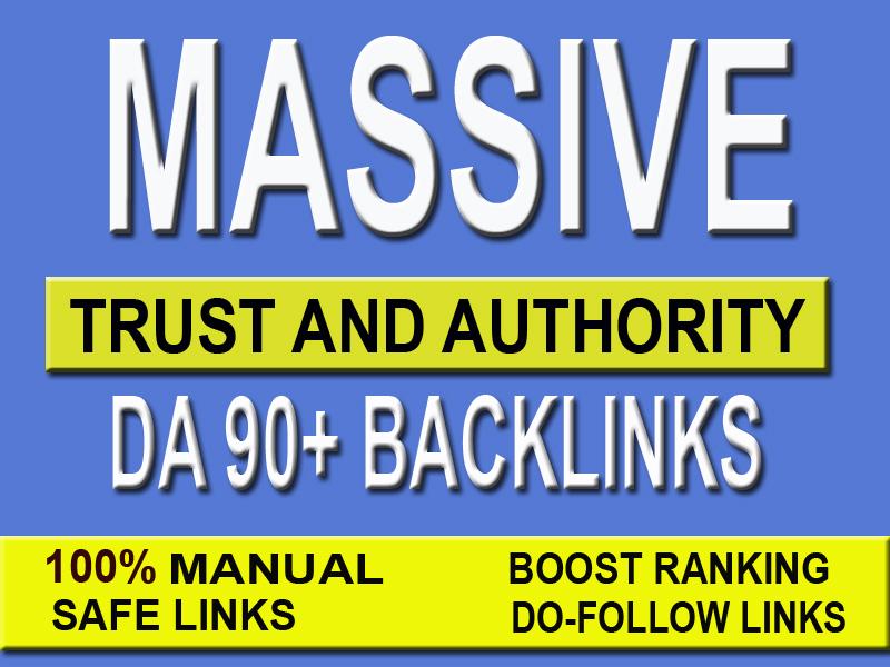 Google SEO with DA 90+ manual high Authority Backlinks