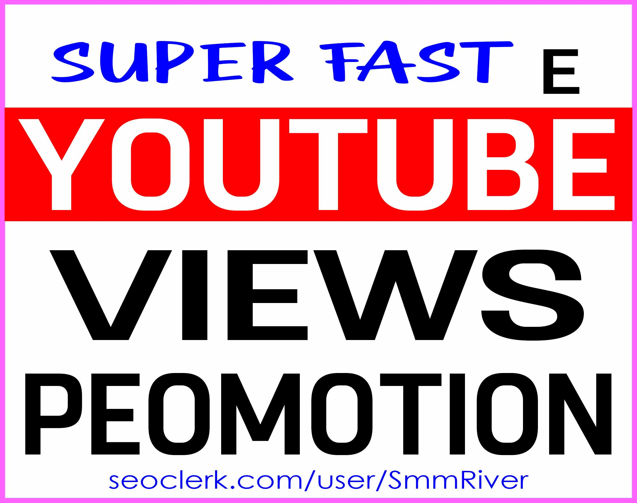 YOUTUBE VIDEO ORGANIC PROMOTION NON DROP AND HIGH QUALITY WITH INSTANT START