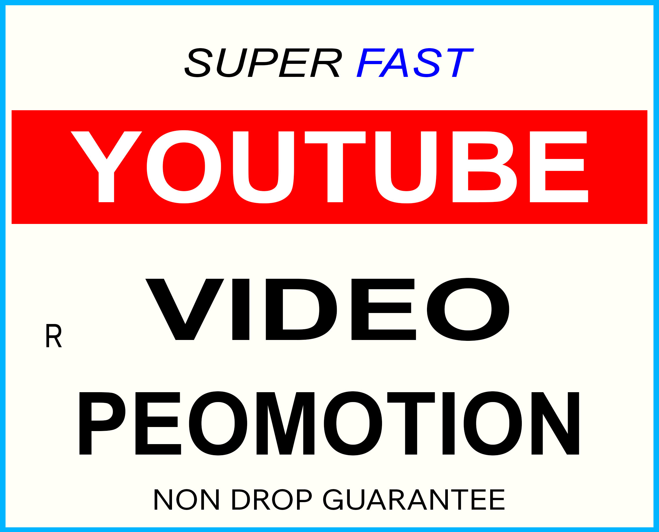 YOUTUBE VIDEO PROMOTION NON DROP SUPER FAST AND HIGH QUALITY GUARANTEED