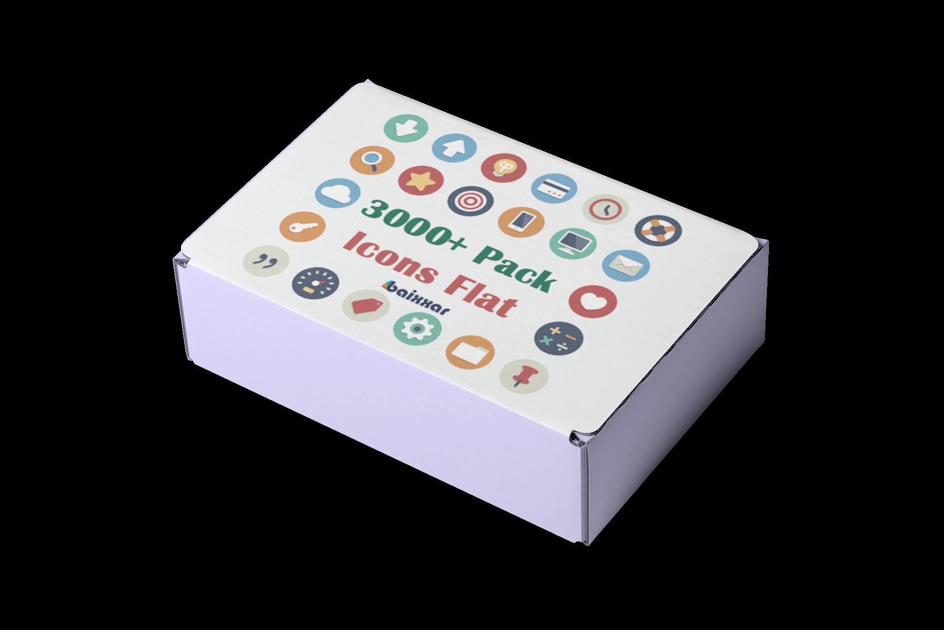 Pack 3000+ Icons Flat Editable Graphic Designer