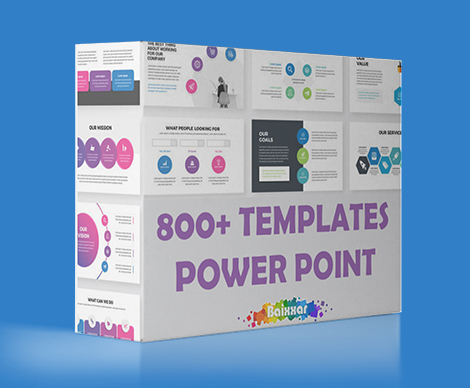 800+ Templates Power Point Complete Pack