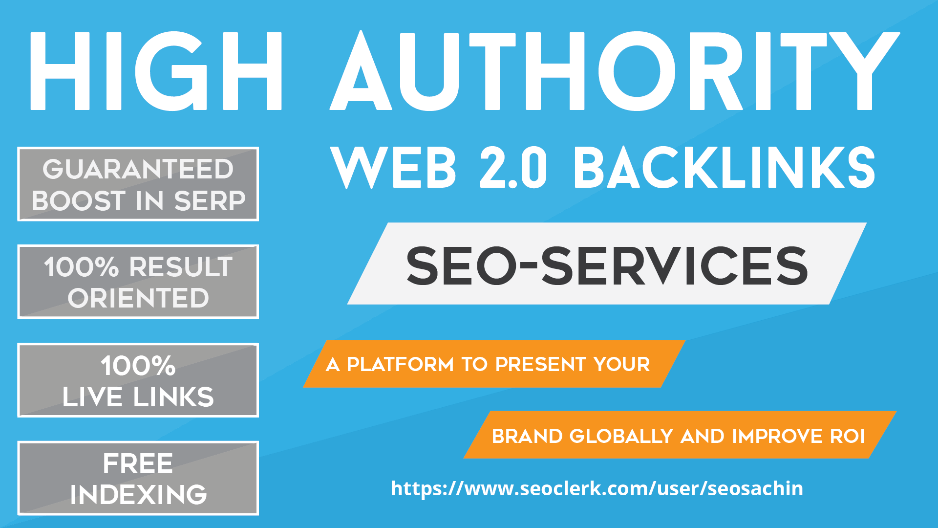 Exclusive Offer - add 100+ Web 2.0 High Authority Profile Backlinks On DA80-100 Sites