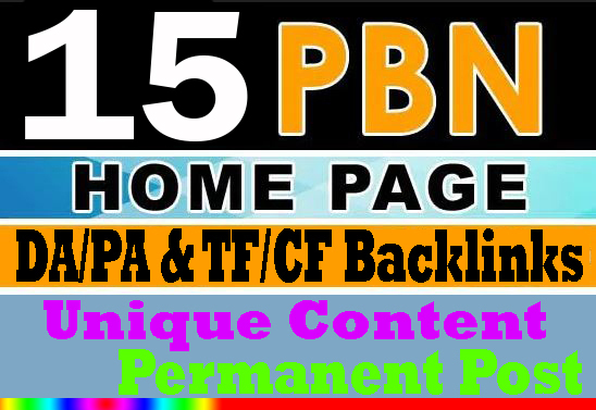 Create Manual 15 Homepage PBNs Backlinks with Unique Content