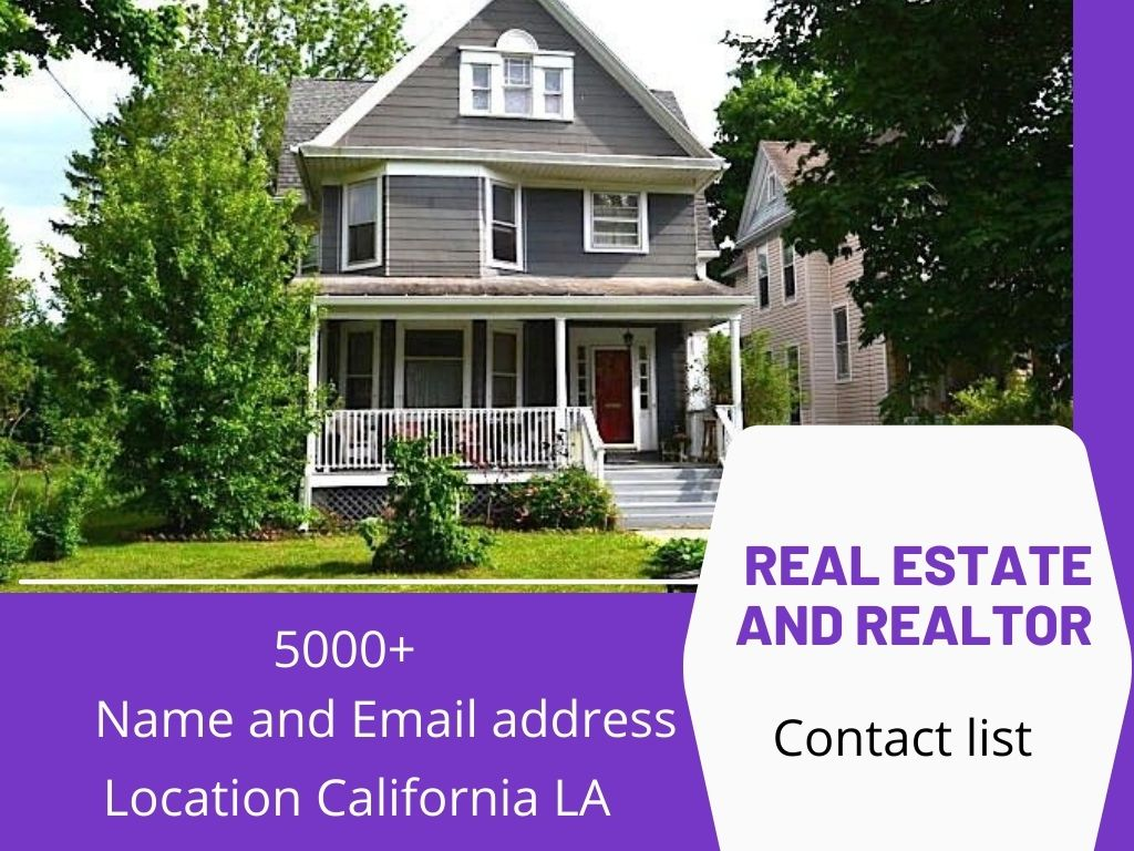 5000 Contact USA real estate agents email database B2B Lead generation