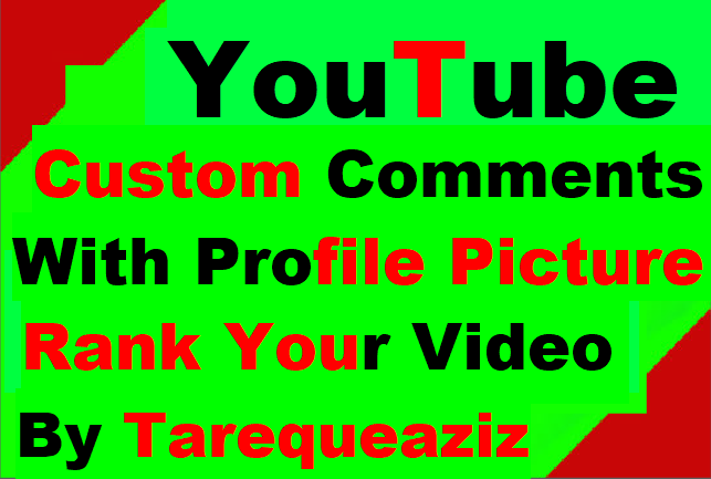 Manually Work Video Promotion Custom Comment