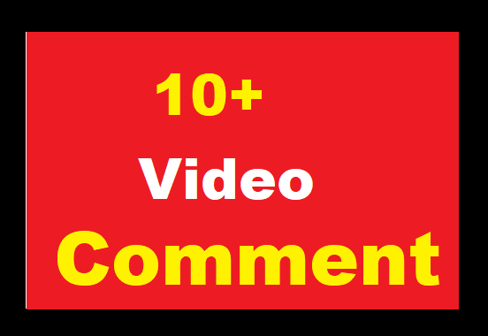 Video Comments Promotion Real User High Quality instant Start