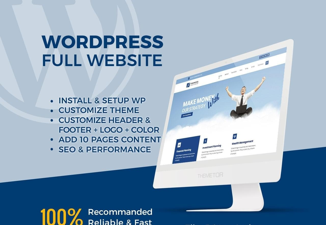 Created Professional Any WordPress Website Responsive And Custom All Design