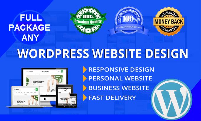 Professional Any WordPress Website Responsive And Custom All Design