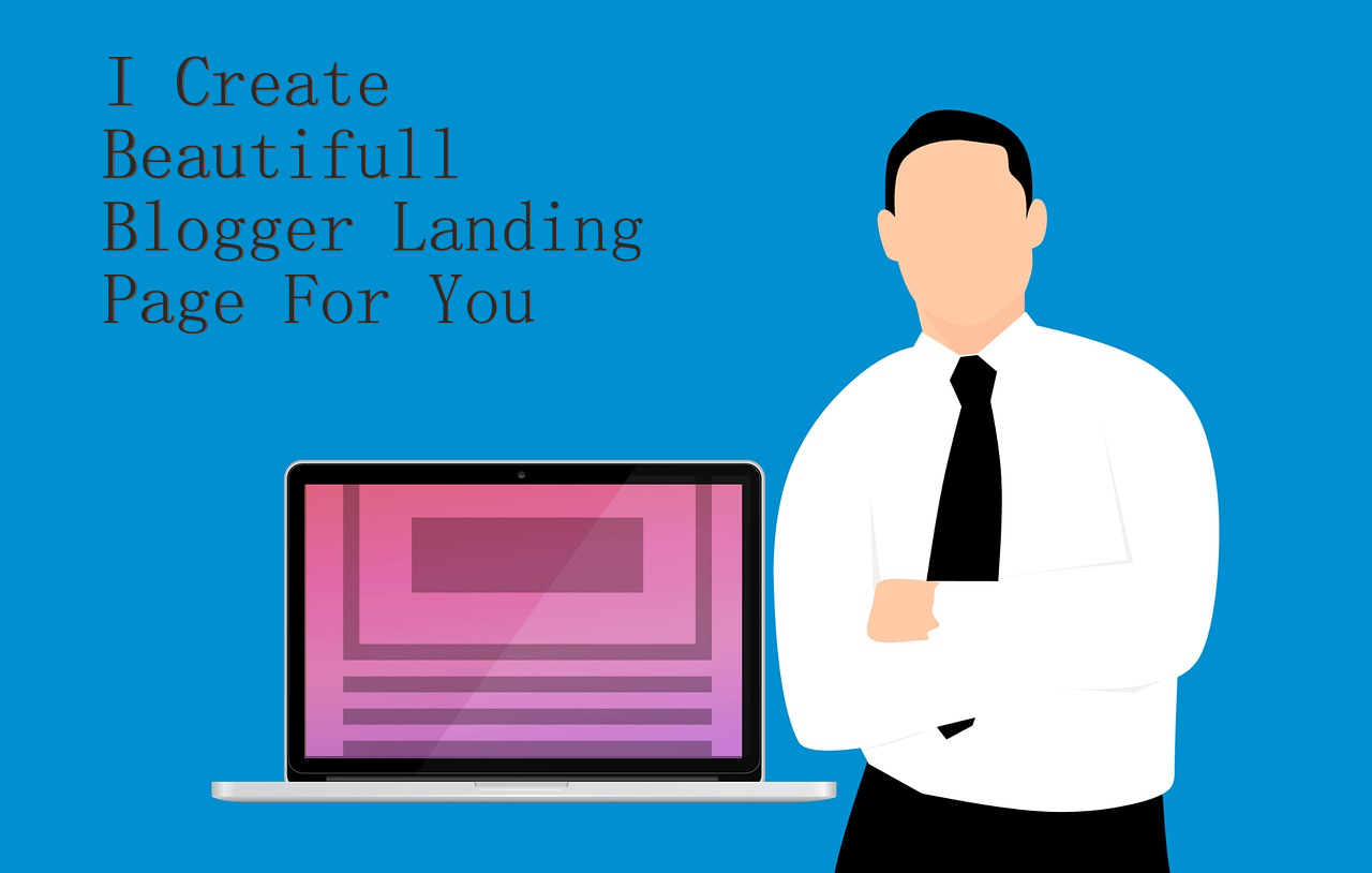 create stunning blogger landing page For Your Website