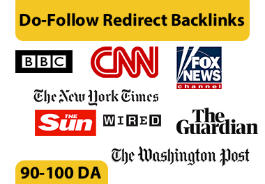 90-100 DA Do-F Redirect Backlink from BBC,  CNN,  Guardian,  Washington Post and More