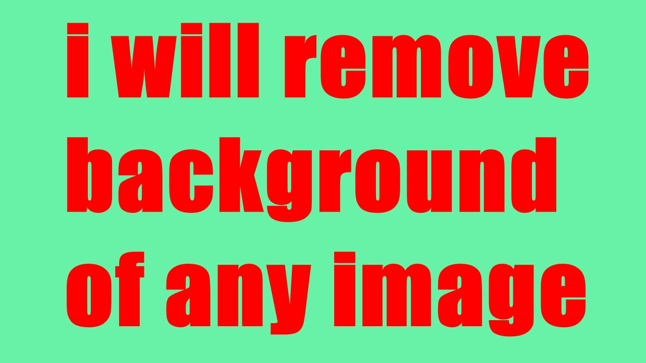 i will remove background of image