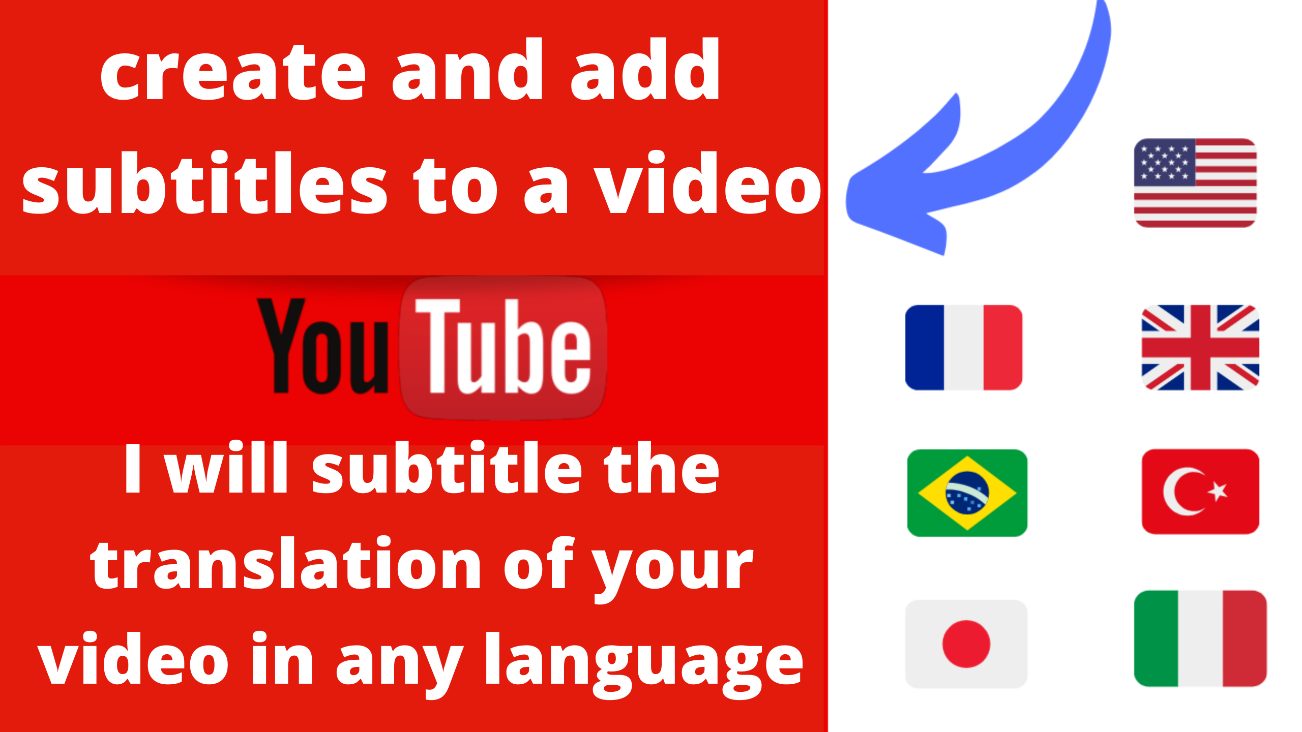 I will translate video subtitles to any languages and make subtitles added videos up to 5 minutes in