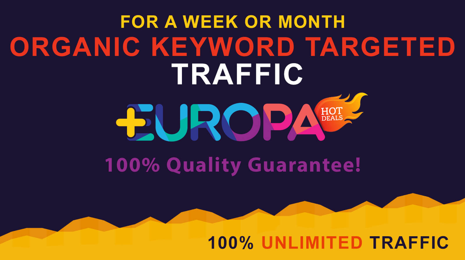 UNLIMITED ORGANIC KEYWORD TARGETED TRAFFIC FOR A WEEK OR MONTH PLUS BONUS