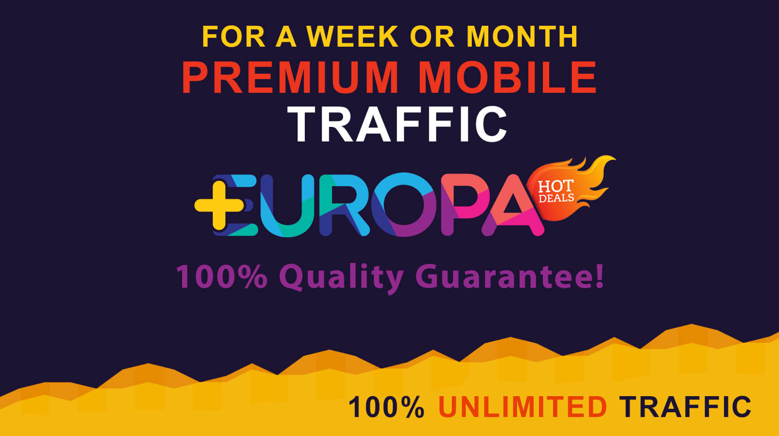 UNLIMITED MOBILE TRAFFIC FOR A WEEK OR MONTH PLUS BONUS