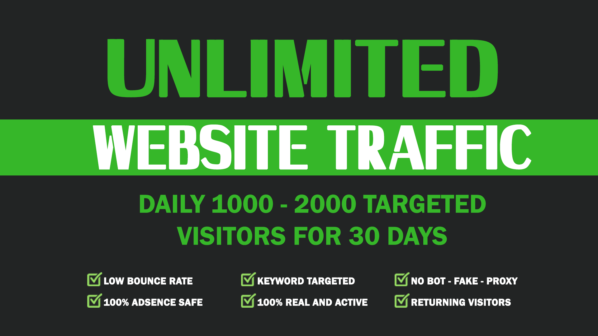 Drive Unlimited Real Targeted Traffic, Quality Visitors