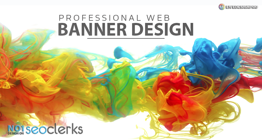 design banner for website, professional web banner design