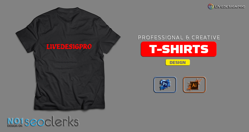 do professional and creative custom t shirts design