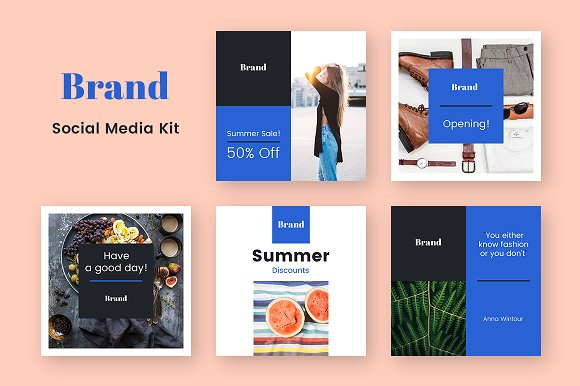 I will design a beautifully customized 4 social media banners