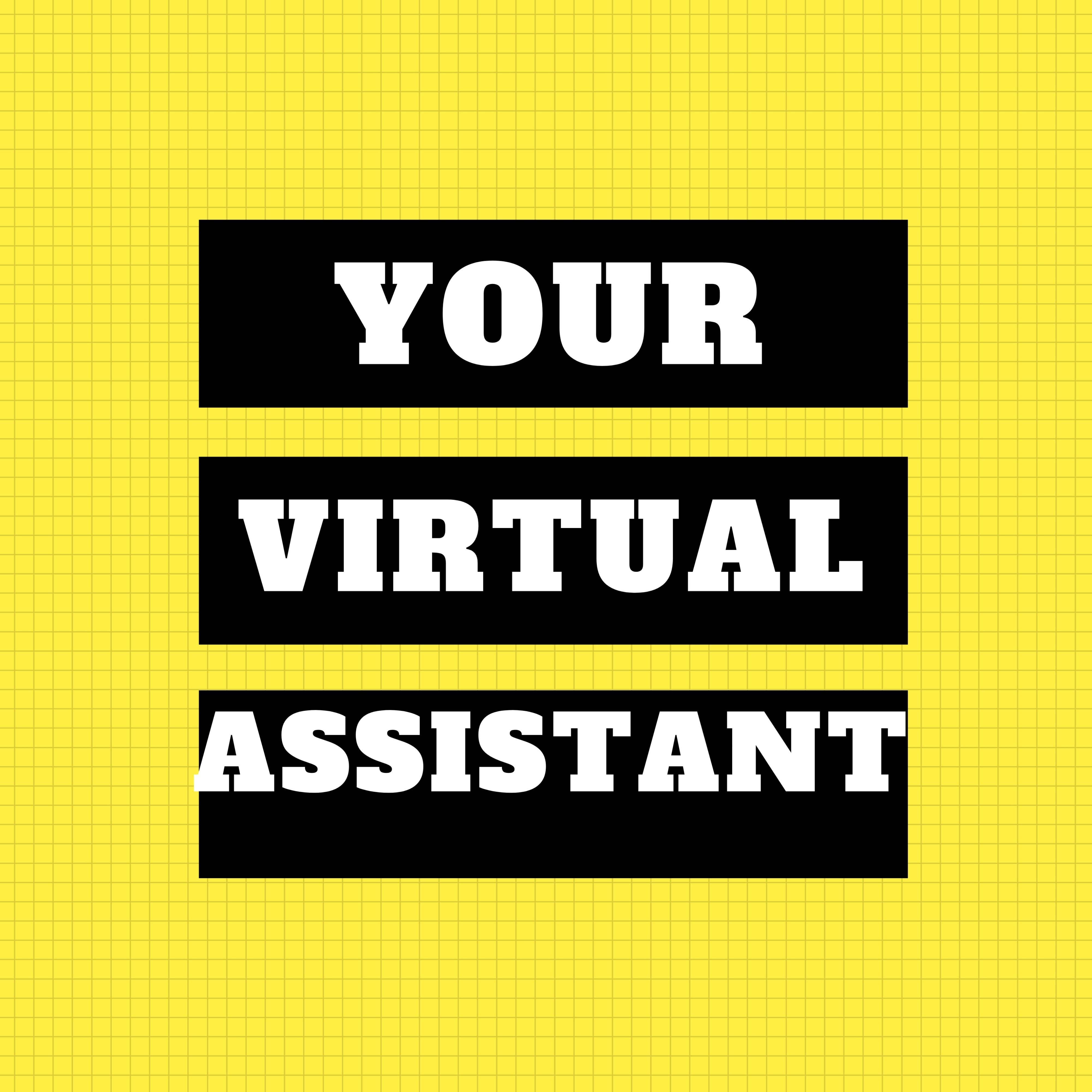 I will be your personal virtual assistant, social media manager, web researcher for 1hour