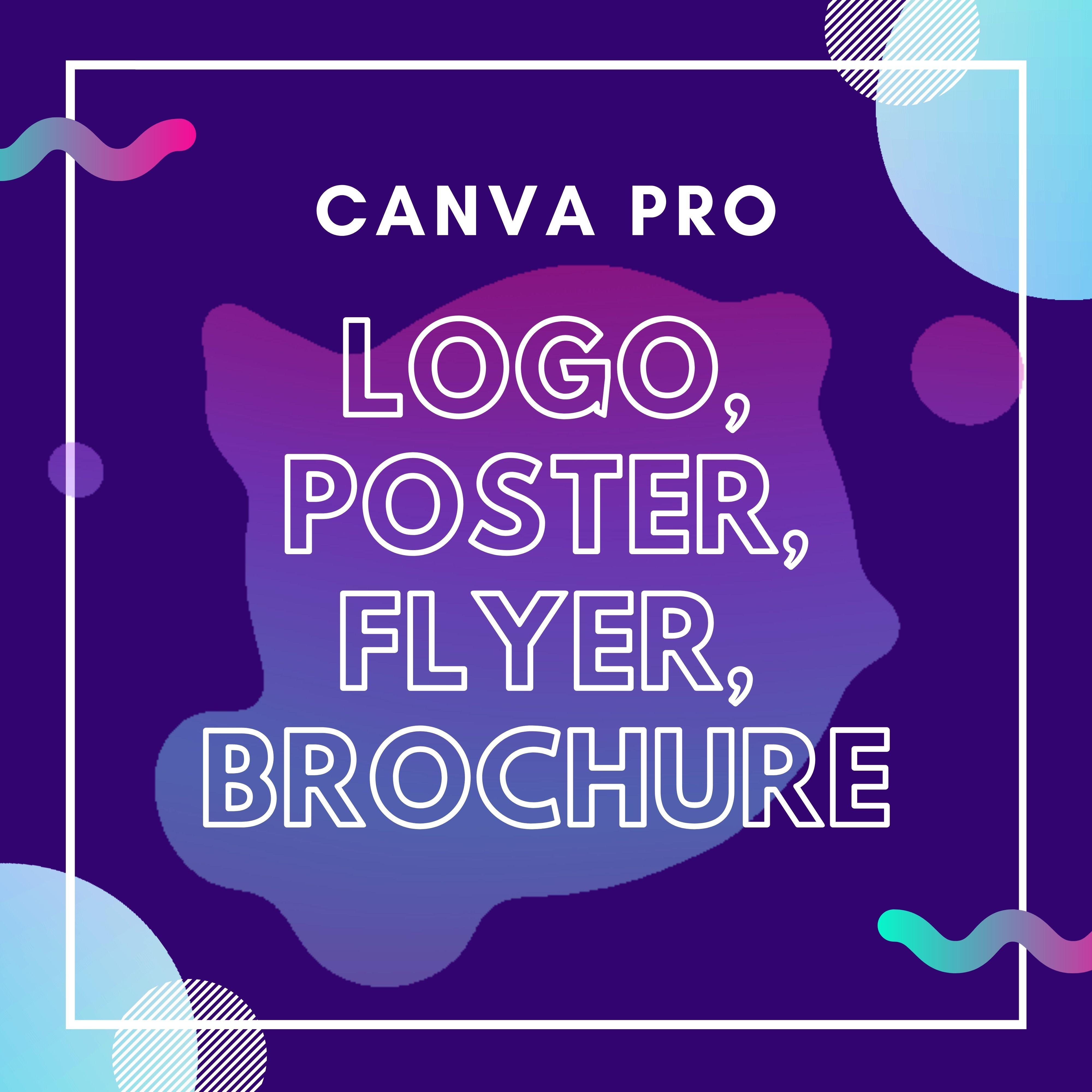 I will create Canva logo,  flyer,  brochure,  social media post