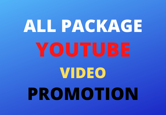 One In all package YouTube Promotion Social Media Marketing Super fast delivery