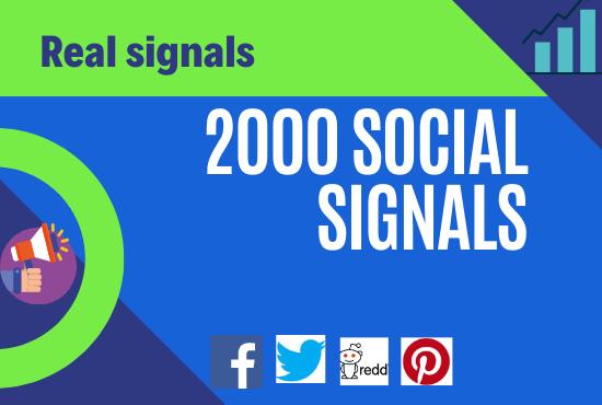 i will do 2000 social signals seo friendly