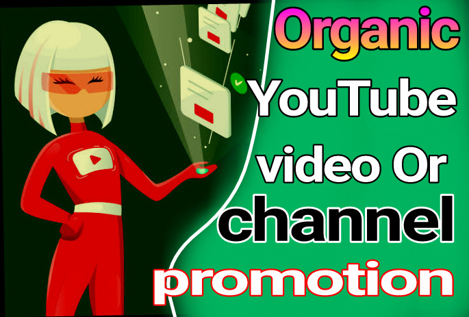 Organic YouTube video promotion fast delivery within 24 hours