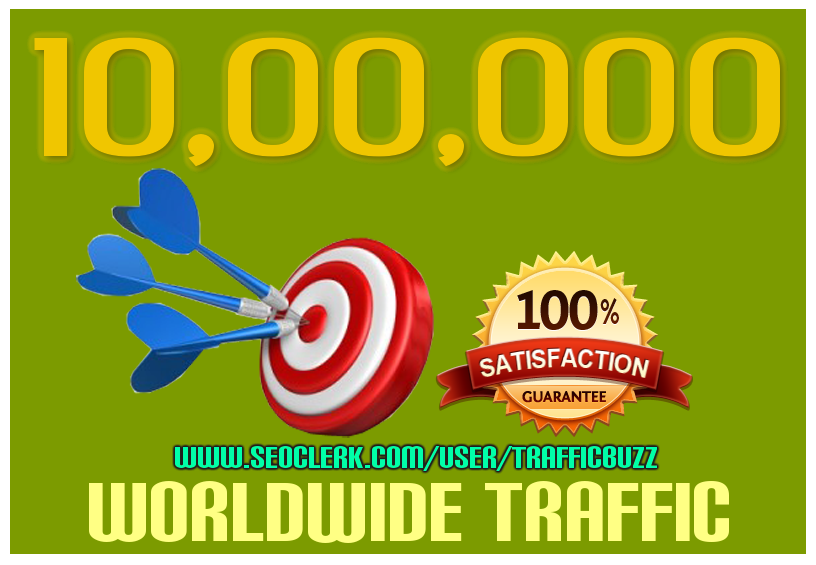 DRIVE 10,00,000+(1 MILLION) TARGETED Human Traffic to your Website or Blog