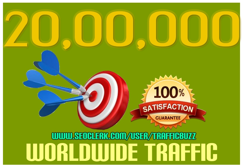 Drive 2 MILLION Targeted Human Traffic from search engine and social media