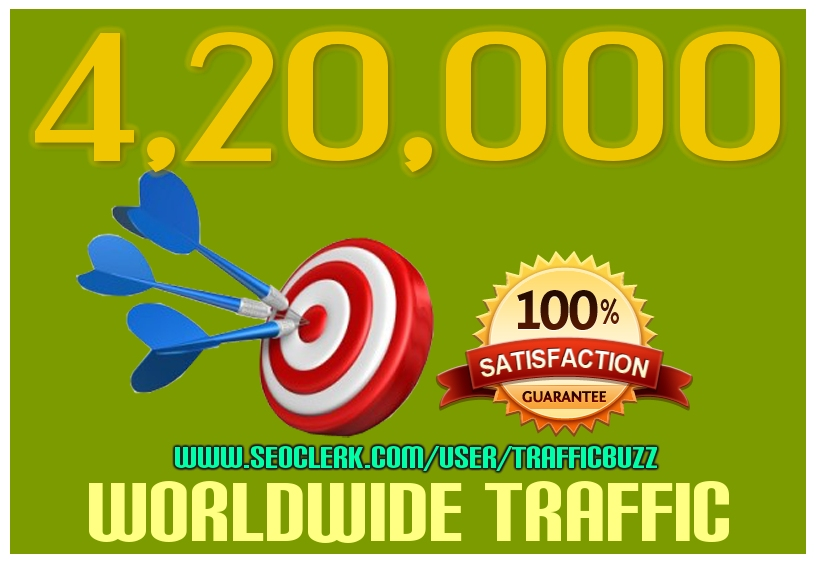 Drive 4,20,000++ Targeted Human Traffic from search engine and social media
