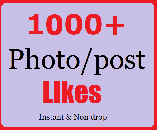 Get 1000+ Social Likes Instant Start With Fast Delivery