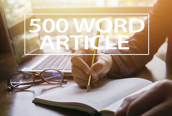 Write 7 Original 500 Word Well Researched ARTICLE