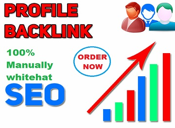 manually set up HQ 100 social profile creations or social profile backlinks